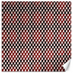 Squares Red Background Canvas 16  X 16