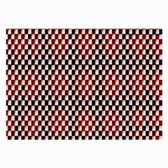 Squares Red Background Large Glasses Cloth