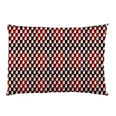 Squares Red Background Pillow Case