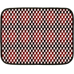 Squares Red Background Fleece Blanket (mini)