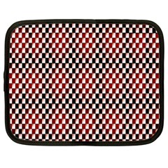 Squares Red Background Netbook Case (xxl)