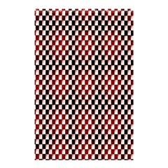 Squares Red Background Shower Curtain 48  X 72  (small)