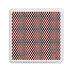 Squares Red Background Memory Card Reader (square)