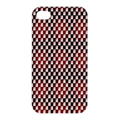 Squares Red Background Apple iPhone 4/4S Hardshell Case
