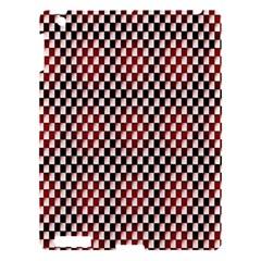 Squares Red Background Apple iPad 3/4 Hardshell Case