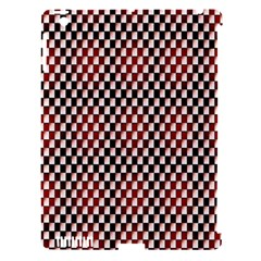 Squares Red Background Apple iPad 3/4 Hardshell Case (Compatible with Smart Cover)