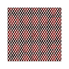 Squares Red Background Acrylic Tangram Puzzle (6  x 6 )