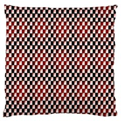 Squares Red Background Large Cushion Case (one Side)