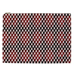 Squares Red Background Cosmetic Bag (XXL)
