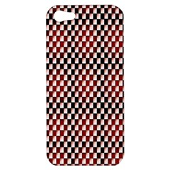 Squares Red Background Apple iPhone 5 Hardshell Case