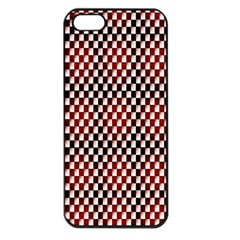 Squares Red Background Apple iPhone 5 Seamless Case (Black)