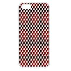 Squares Red Background Apple iPhone 5 Seamless Case (White)