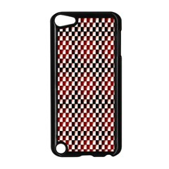 Squares Red Background Apple iPod Touch 5 Case (Black)