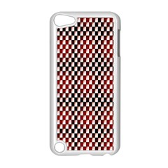Squares Red Background Apple iPod Touch 5 Case (White)