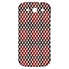 Squares Red Background Samsung Galaxy S3 S Iii Classic Hardshell Back Case