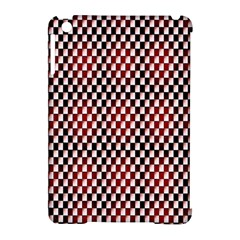Squares Red Background Apple iPad Mini Hardshell Case (Compatible with Smart Cover)
