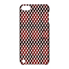 Squares Red Background Apple Ipod Touch 5 Hardshell Case With Stand