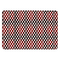 Squares Red Background Samsung Galaxy Tab 8 9  P7300 Flip Case