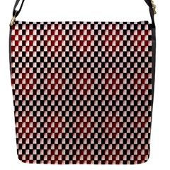 Squares Red Background Flap Messenger Bag (S)