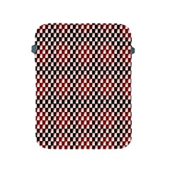 Squares Red Background Apple iPad 2/3/4 Protective Soft Cases