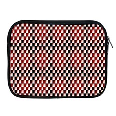Squares Red Background Apple iPad 2/3/4 Zipper Cases