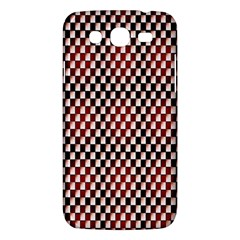 Squares Red Background Samsung Galaxy Mega 5.8 I9152 Hardshell Case