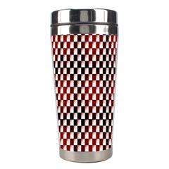 Squares Red Background Stainless Steel Travel Tumblers