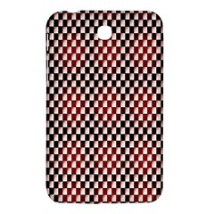 Squares Red Background Samsung Galaxy Tab 3 (7 ) P3200 Hardshell Case