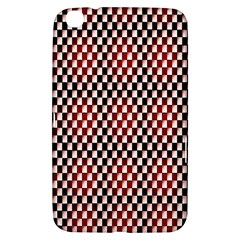 Squares Red Background Samsung Galaxy Tab 3 (8 ) T3100 Hardshell Case
