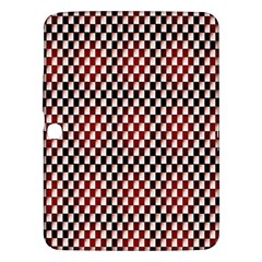 Squares Red Background Samsung Galaxy Tab 3 (10.1 ) P5200 Hardshell Case
