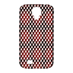 Squares Red Background Samsung Galaxy S4 Classic Hardshell Case (PC+Silicone)