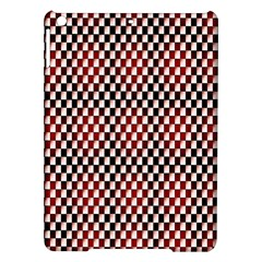 Squares Red Background iPad Air Hardshell Cases