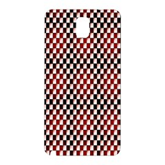 Squares Red Background Samsung Galaxy Note 3 N9005 Hardshell Back Case