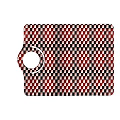 Squares Red Background Kindle Fire HD (2013) Flip 360 Case