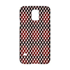 Squares Red Background Samsung Galaxy S5 Hardshell Case