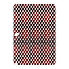 Squares Red Background Samsung Galaxy Tab Pro 10.1 Hardshell Case