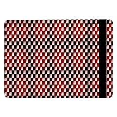 Squares Red Background Samsung Galaxy Tab Pro 12.2  Flip Case