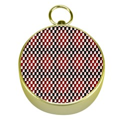 Squares Red Background Gold Compasses