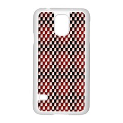 Squares Red Background Samsung Galaxy S5 Case (White)