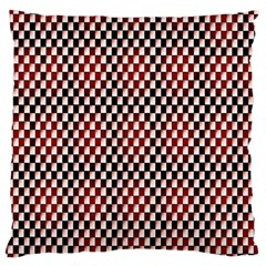 Squares Red Background Standard Flano Cushion Case (Two Sides)