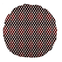 Squares Red Background Large 18  Premium Flano Round Cushions