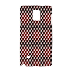 Squares Red Background Samsung Galaxy Note 4 Hardshell Case