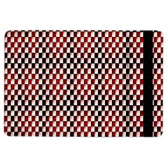 Squares Red Background iPad Air 2 Flip