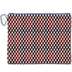 Squares Red Background Canvas Cosmetic Bag (XXXL)