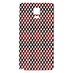Squares Red Background Galaxy Note 4 Back Case