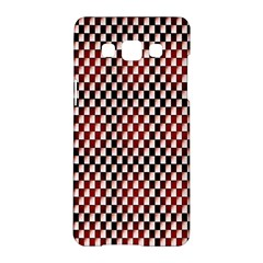 Squares Red Background Samsung Galaxy A5 Hardshell Case