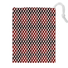 Squares Red Background Drawstring Pouches (xxl)
