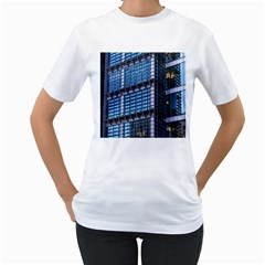 Modern Business Architecture Women s T-Shirt (White) (Two Sided)