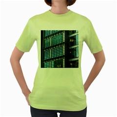 Modern Business Architecture Women s Green T-Shirt