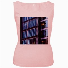 Modern Business Architecture Women s Pink Tank Top